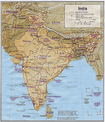 Download Free India map high resolution PDF