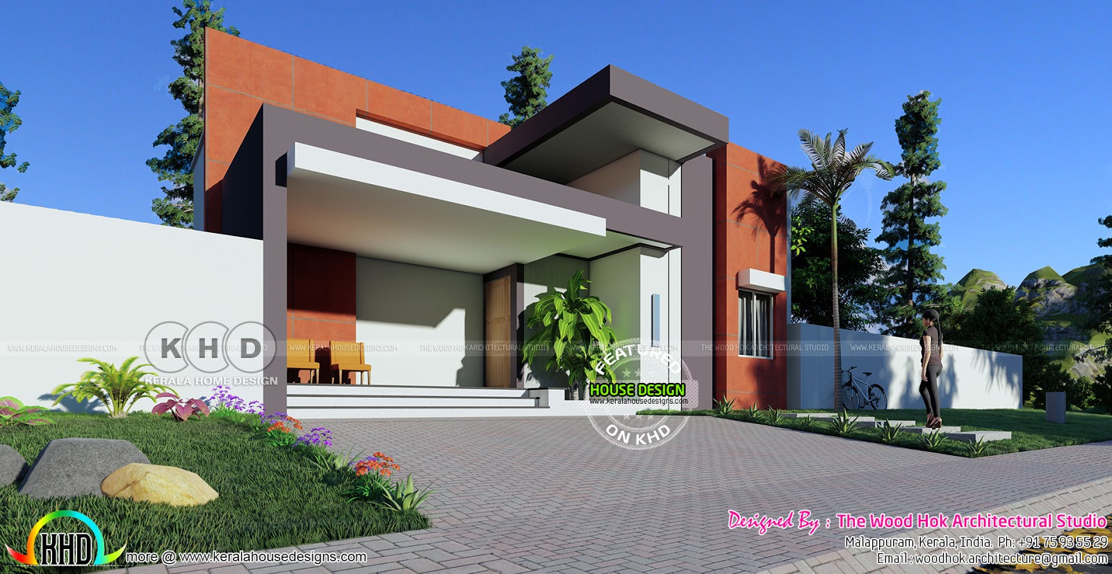 22k Cost Estimated Contemporary House Plan Kerala Home