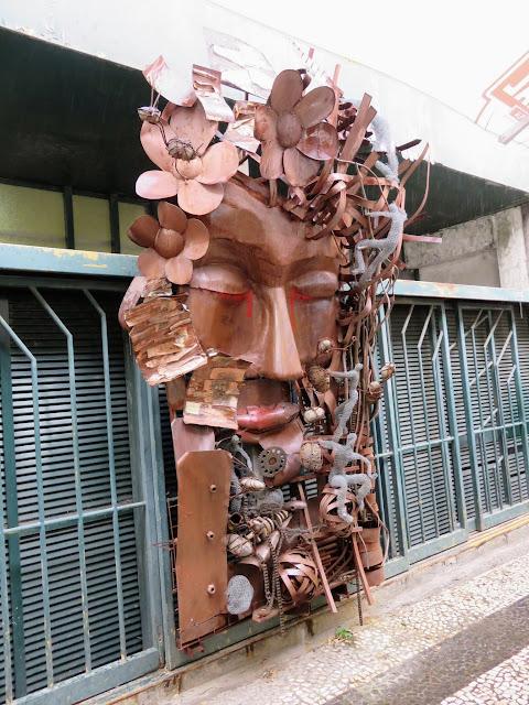 Bronze street art in Funchal, Madeira