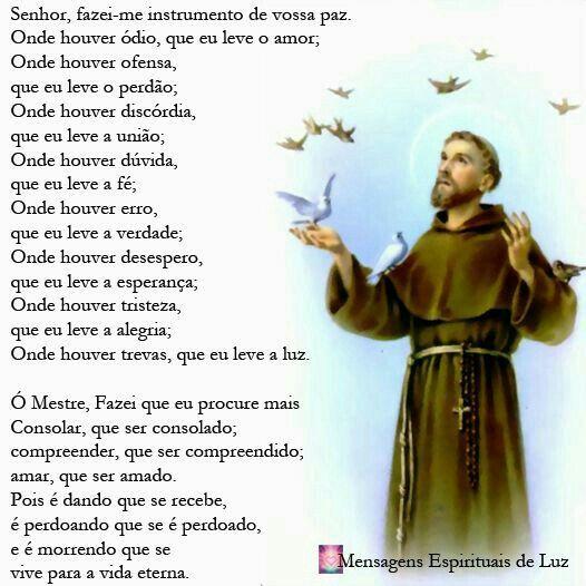 """Hoje (21), é aniversário de Jair Bolsonaro, como ele se diz um pio cristão, e católico, embora não pareça ser nem uma coisa nem outra, deixo pra ele uma mensagem universal de paz e amor. A """"Oração de São Francisco""""."""