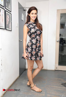 Actress Disha Patani Pictures in Floral Short Dress at M S Dhoni Movie Press Meet  0008