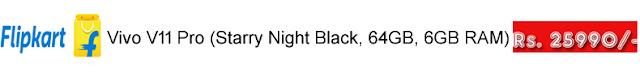 Vivo V11 Pro (Starry Night Black, 64GB, 6GB RAM)