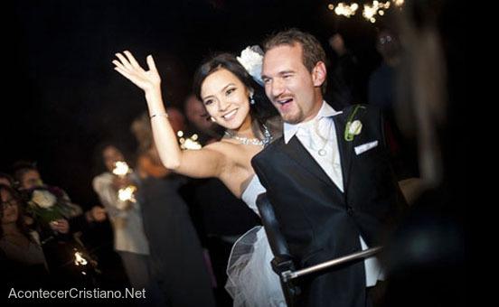 Matrimonio de Nick Vujicic y Kanae