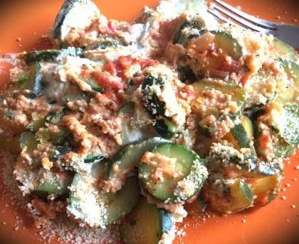 Zucchini with Boursin