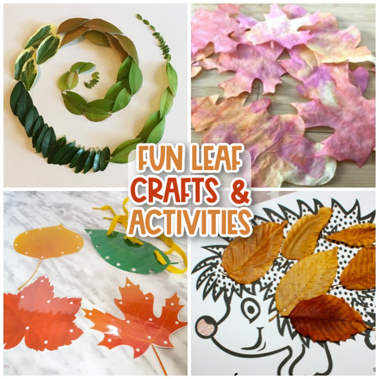 fun leaf crafts and activities for kids