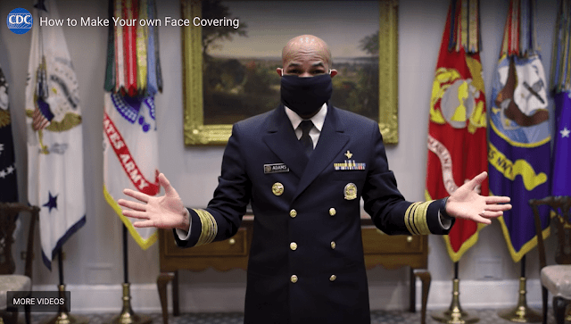 A US Military Doctor shows how to make face masks using your clothes
