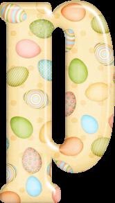 Abecedario Amarillo con Huevos de Pascua.