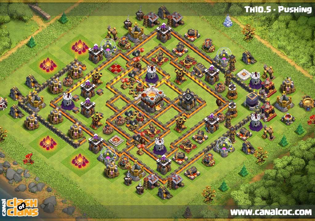 ➥ Base Th10 5 - Pushing / No Infernos, no Eagle #927
