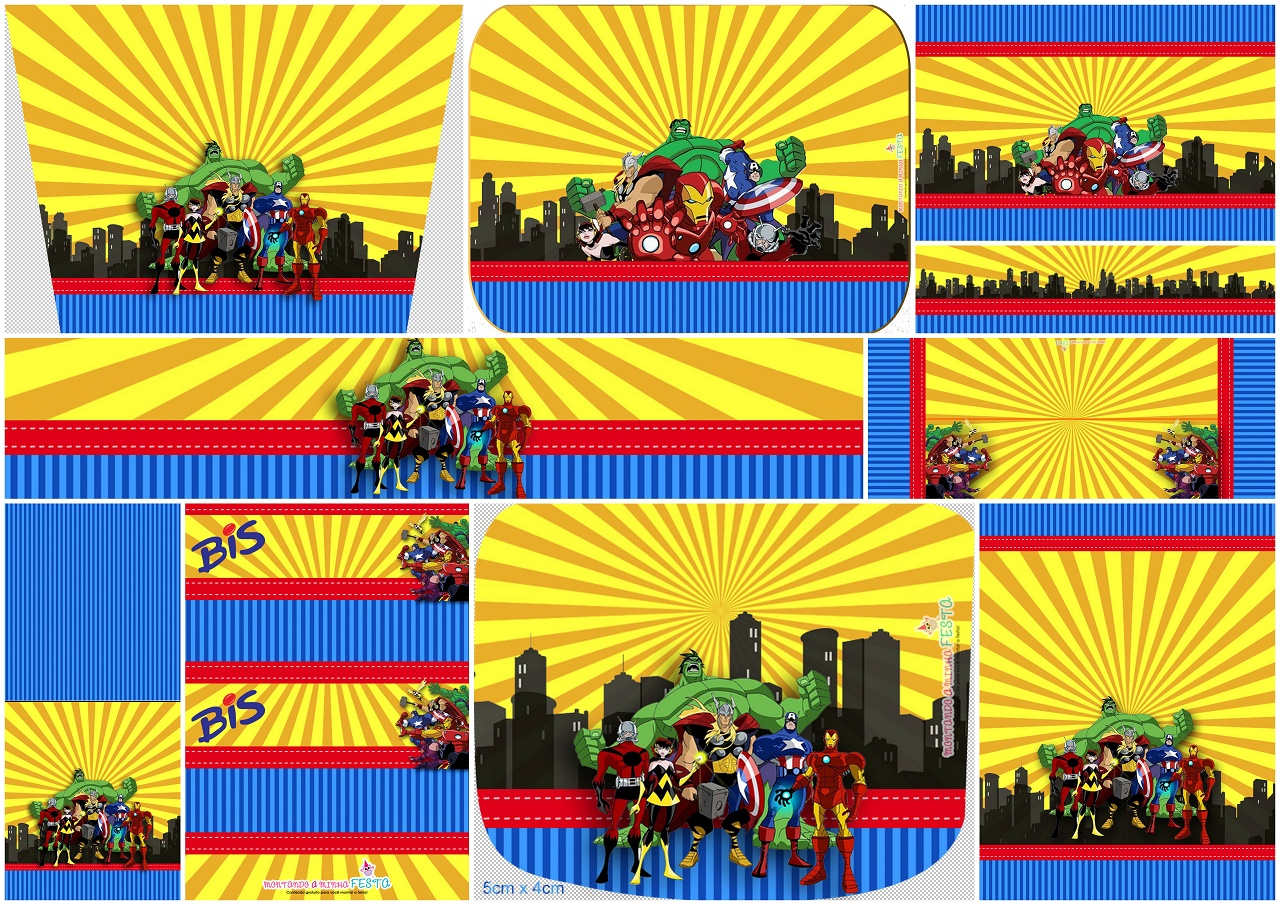 Avengers Comic Version Free Printable Candy Bar Labels