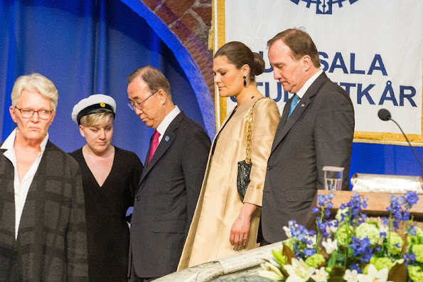 Crown Princess Victoria of Sweden attended as a audience a conference on refugee issue which is attended by UN General Secretary Ban Ki-Moon