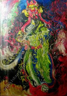 "Pelukis: Affandi Tahun: 1965 Judul : "" Kwan Khong "" Ukuran : 100cm X 150cm Media : Oil on Canvas"