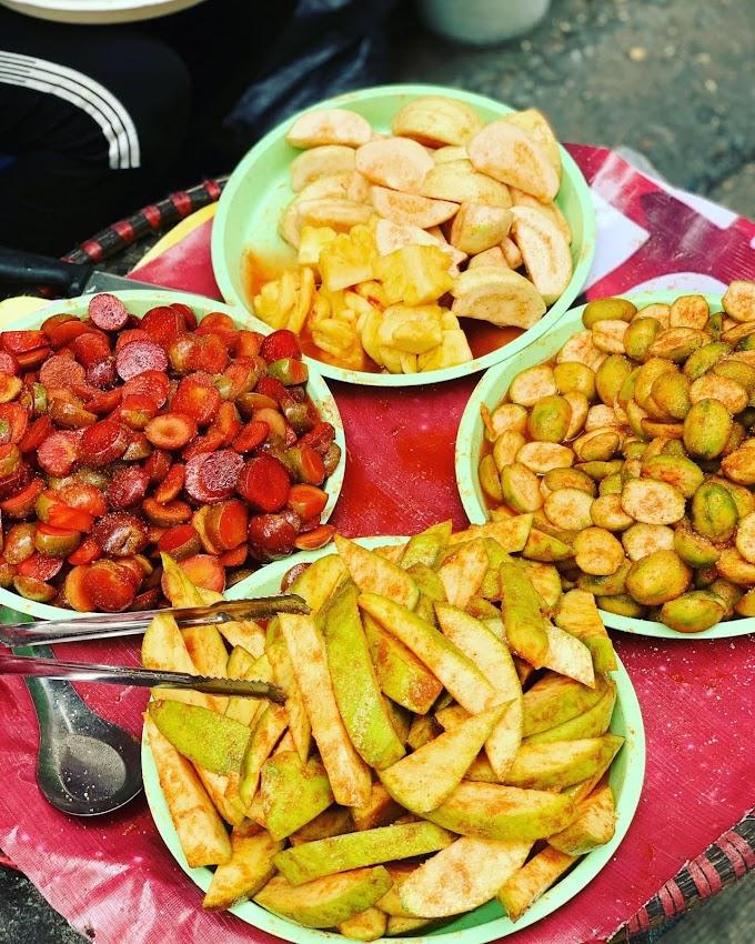 Hoa quả dầm - Đầu ngõ Thái Phiên