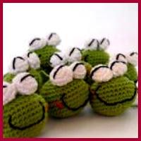 Cabecitas de ranas a crochet