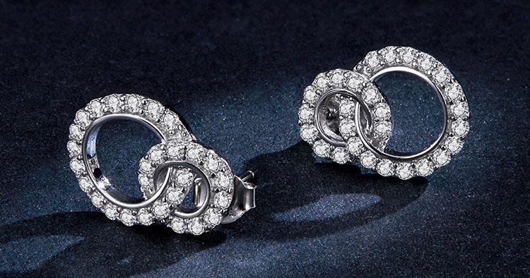 琴瑟和鳴 925純銀鋯石耳環
