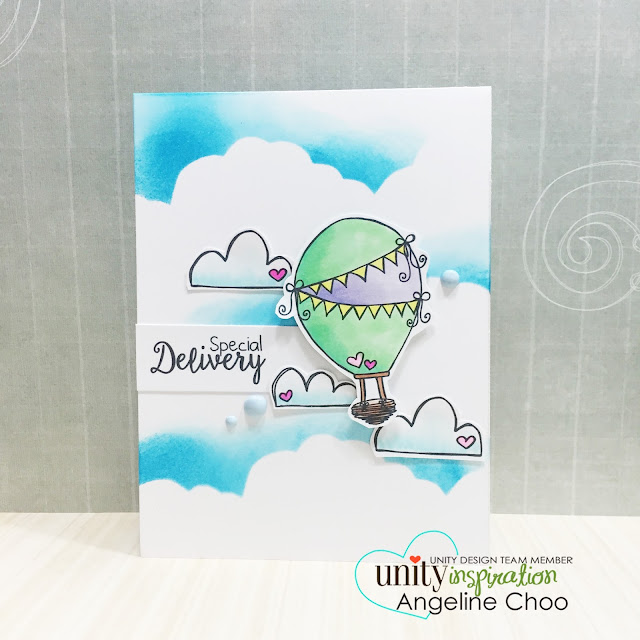 ScrappyScrappy: Clouds inking card #scrappyscrappy #unitystampco #stamp #stamping #copic #card #cardmaking #papercraft #timholtz #distressink