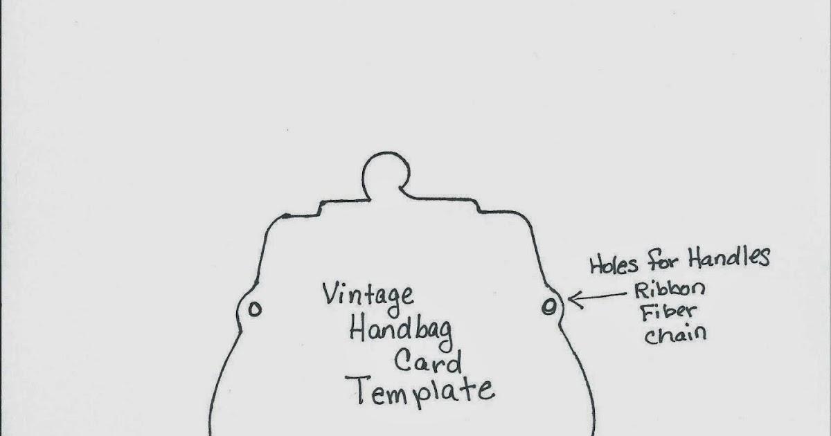 Ink Stains: Vintage Handbag Card + Template
