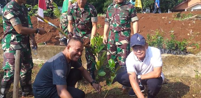 Hari Juang TNI-AD, Kodam Jaya Tanam 600 Pohon di Situ Sidamukti