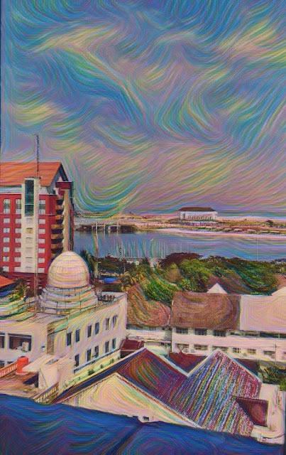 Pemandangan dari Jendela Kamar Hotel Ibis City Center Makassar