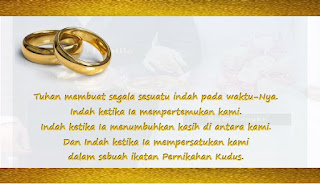 Kata-kata Dalam Undangan Pernikahan Kristen