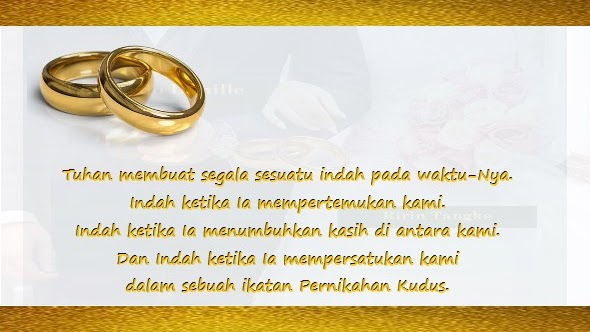 Kata Kata Dalam Undangan Pernikahan Kristen