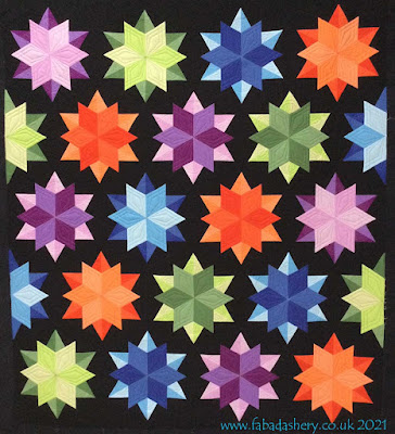 Jane's Night Sky Quilt - Custom Quilted by Frances Meredith
