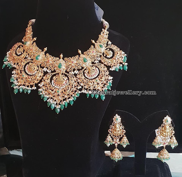 Diamond and antique sets by Bhavani Jewellers