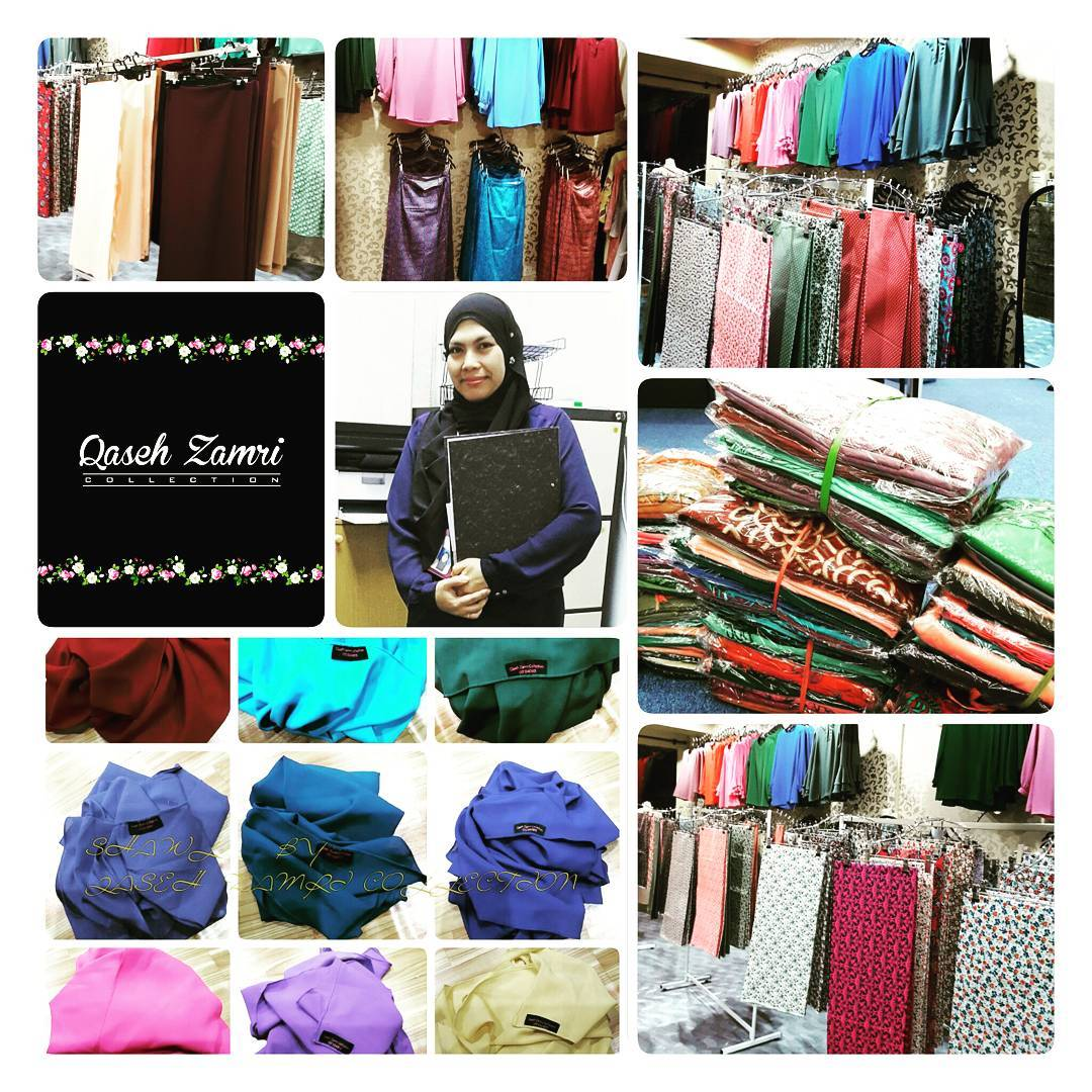 Blouse, Shawl, Skirts, Kain Sulam Bandung & English Cotton di Qaseh Zamri Collection