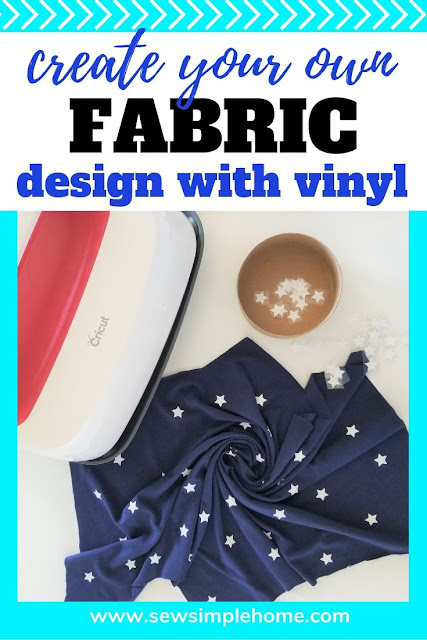 Create your own fabric designs with a Cricut machine and HTV or iron-on vinyl