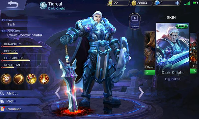 Inilah Top Build Item Tigreal  Mobile Legends Tank Terkuat