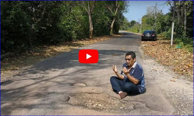 Wakil Menteri Berdoa di Depan Jalan Rusak, Sehari Kemudian Lihat Apa yang Terjadi