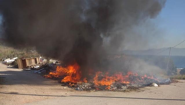 Φωτιά ξέσπασε στο Δρέπανο Αργολίδας