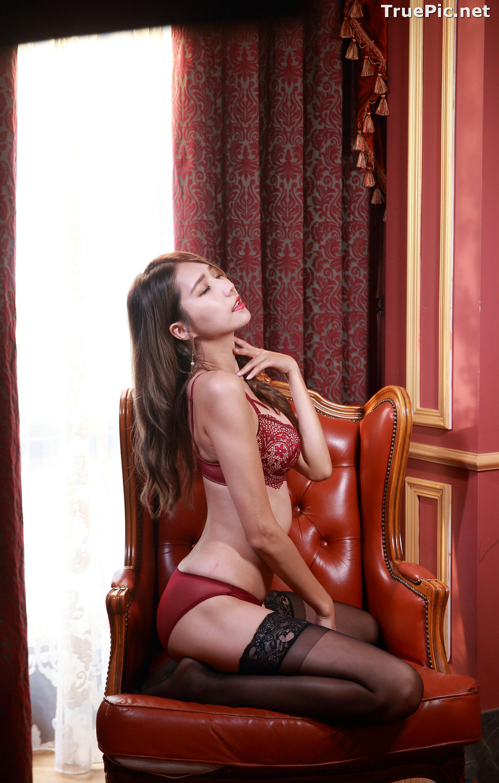Image Taiwanese Long Legs Model - 黃韻斐 - Sexy Girl In Lingerie At Room - TruePic.net - Picture-8