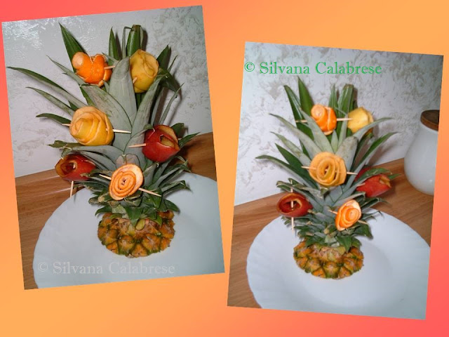 Carvings Bouquet with pineapple tutf Loving San Francisco