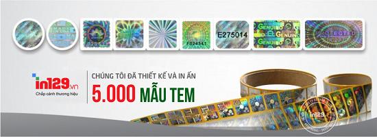 In tem 7 màu hologram tại Hà Nội Atuan