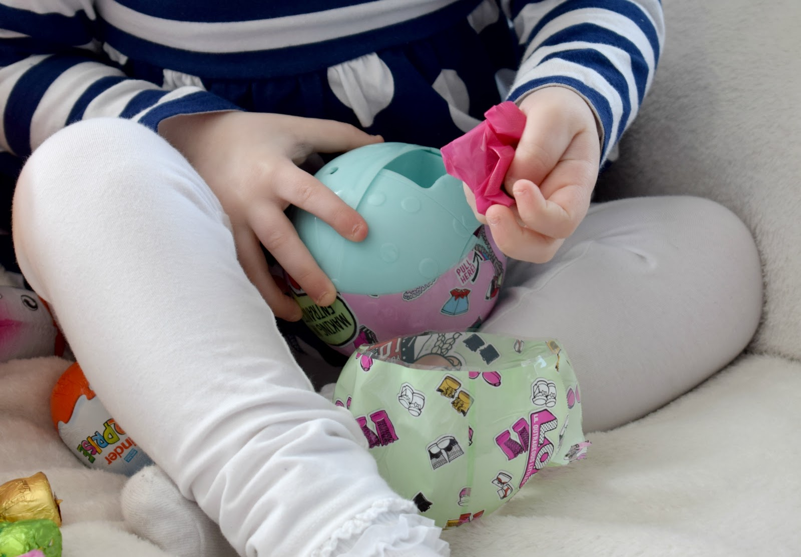 Alternative easter egg hunt raising emily emily couldnt wait to find these and unwrap the surprise with each doll you get 7 layers of fun every layer you unwrap from the ball youll reveal a new negle Choice Image