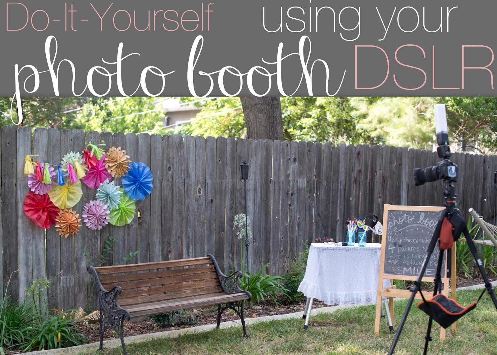 Domestic Fashionista Diy Photo Booth Using Your Dslr Camera