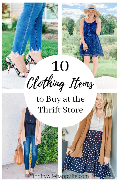 Thrift store fashion || Clothing items to buy at the thrift store