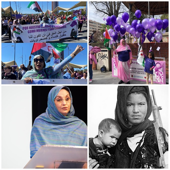 La participación de la mujer saharaui en las protestas del 8 de marzo día internacional de la mujer trabajadora