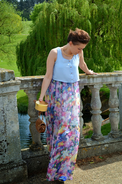 Adriana Style Blog, blog modowy Puławy, Carvela Kurt Geiger Shopper Bag, Fashion, Flowery Dress, Gold Jewellery, Jane Norman Blazer, moda, New Look Linght Flowery Dress, River Island Across the Body Bag