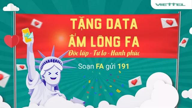 Nhận 1402 MB data 4G miễn phí từ nhà mạng Viettel nhân dịp ngày lễ Valentine