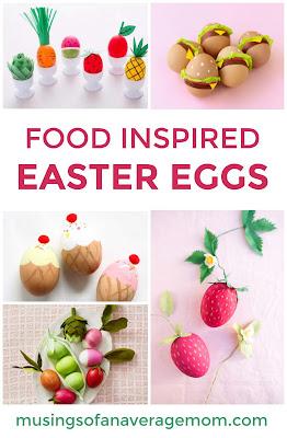 food inspired easter eggs