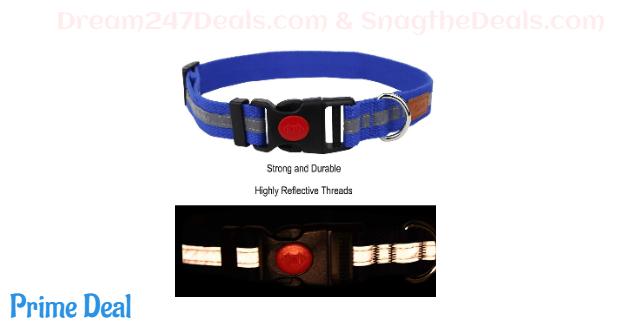 40% OFF Egoola Night Reflective Dog Collar Adjustable Pet Collars with Small Medium Large