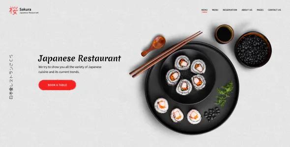 Best Restaurant Adobe Muse Template