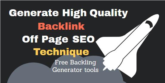 backlink generate tools