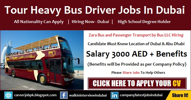 Tour Bus Driver Jobs in Dubai Latest Job Vacancy Today