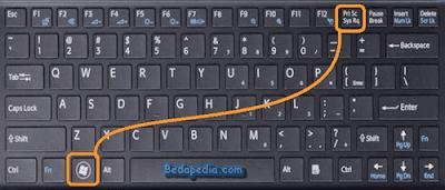 screenshot di laptop dan pc alt + PrtSc