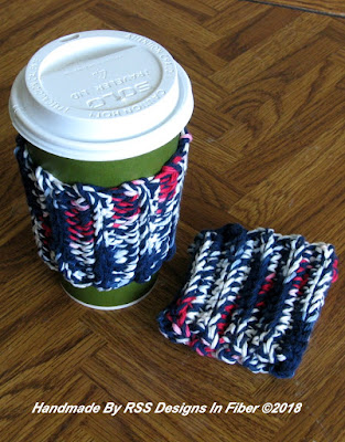 Americana Cup Cozy Set of 2 - By RSS Designs In Fiber