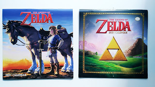 Covers of the 2021 Zelda calendars from Abrams and Pyramid