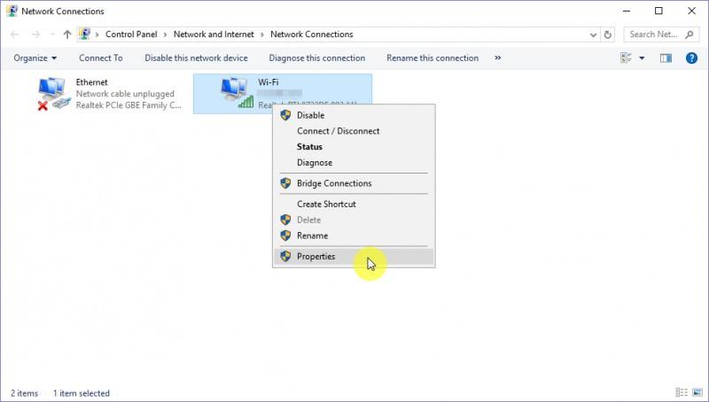 setting ip address static