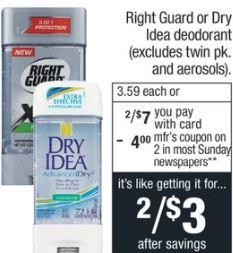 FREE Right Guard Deodorant CVS Deal